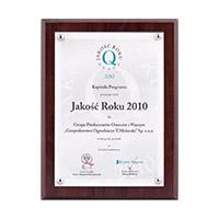 Nagroda Jakość Roku 2010